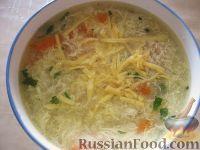Фото к рецепту: Куриный суп с сыром