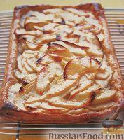 Фруктовый пирог из слоеного теста рецепт пошагово в духовке