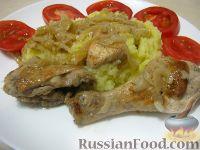 Фото к рецепту: Шашлык куриный на сковороде