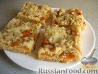 Фото к рецепту: Пирог песочный с абрикосами