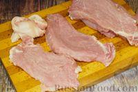 Фото приготовления рецепта: Мясные рулетики с сыром, маринованными огурцами и горчицей - шаг №2