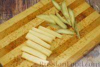 Фото приготовления рецепта: Мясные рулетики с сыром, маринованными огурцами и горчицей - шаг №6