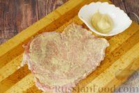 Фото приготовления рецепта: Мясные рулетики с сыром, маринованными огурцами и горчицей - шаг №7