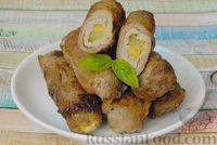 Фото приготовления рецепта: Мясные рулетики с сыром, маринованными огурцами и горчицей - шаг №15