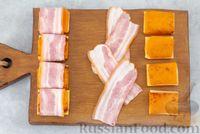 Фото приготовления рецепта: Тыква, запечённая с сыром, в беконе - шаг №5