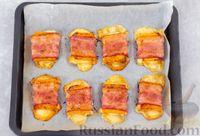 Фото приготовления рецепта: Тыква, запечённая с сыром, в беконе - шаг №7