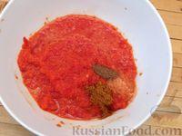 Фото приготовления рецепта: Куриные ножки, запечённые на лаваше, в соусе из кефира и сладкого перца - шаг №4