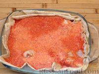 Фото приготовления рецепта: Куриные ножки, запечённые на лаваше, в соусе из кефира и сладкого перца - шаг №7