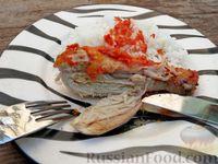Фото приготовления рецепта: Куриные ножки, запечённые на лаваше, в соусе из кефира и сладкого перца - шаг №10