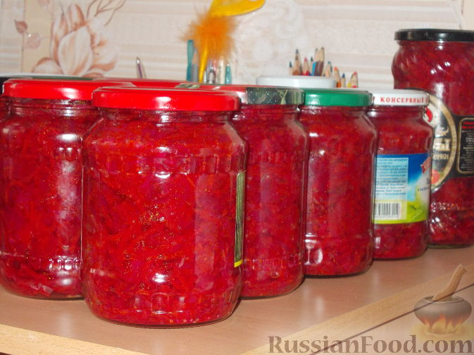 Рецепт Борщевая заправка (закатка)