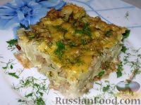 Фото к рецепту: Запеканка из цветной капусты и грибов
