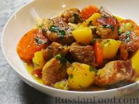 Фото приготовления рецепта: Жаркое по-деревенски - шаг №7