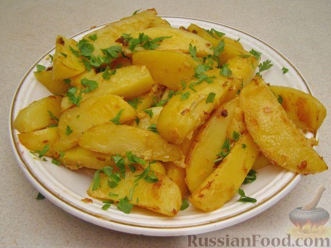 Картошка с горчицей в духовке
