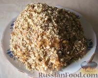 """Фото к рецепту: Торт """"Графские развалины"""" с вареной сгущенкой и печеньем"""