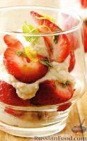 Фото к рецепту: Сырный десерт с клубникой