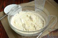 Фото приготовления рецепта: Дрожжевые лепёшки на молоке, с картофелем и зелёным луком - шаг №3