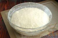 Фото приготовления рецепта: Дрожжевые лепёшки на молоке, с картофелем и зелёным луком - шаг №14