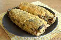 Фото приготовления рецепта: Скумбрия, запечённая с сельдереем и грибами (в фольге) - шаг №16