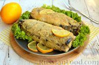 Фото приготовления рецепта: Скумбрия, запечённая с сельдереем и грибами (в фольге) - шаг №17