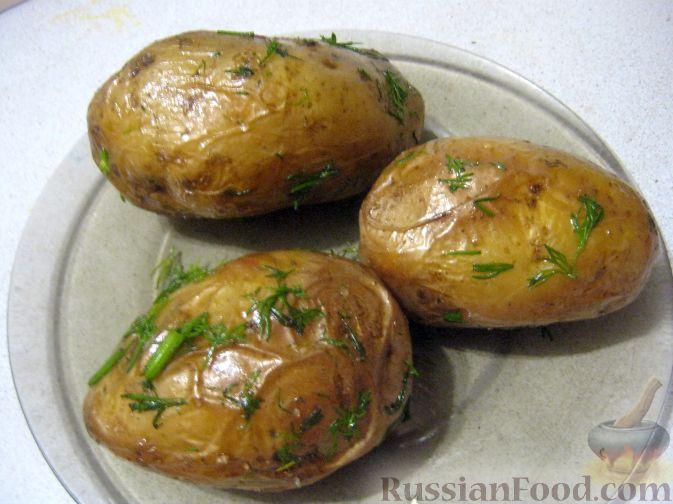Рецепт Картофель, запеченный в фольге