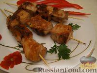 Фото к рецепту: Шашлык в имбирном маринаде (на сковородке)