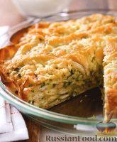 Фото к рецепту: Пирог с куриным мясом, острым перцем и сыром