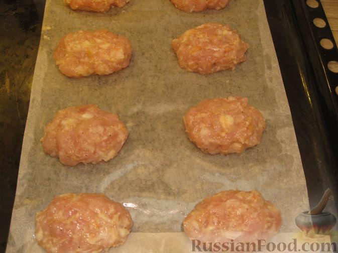 котлеты куриные в духовке пошаговый рецепт с фото