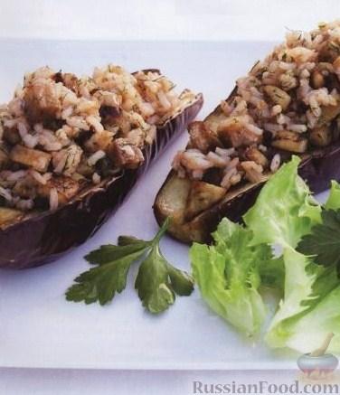 Рецепт Баклажаны, фаршированные рисом