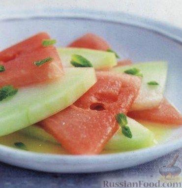 Рецепт Арбуз и дыня с водкой и апельсиновым соком