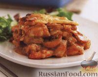 Фото к рецепту: Лазанья с морепродуктами