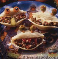 Фото к рецепту: Макароны-ракушки фаршированные
