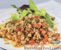Фото к рецепту: Пряная свинина с нутом (турецким горохом) и помидорами