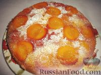 Фото к рецепту: Персиковый перевернутый пирог