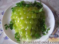 Салат с курицей виноград