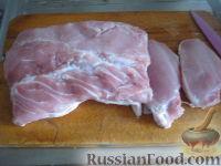 Фото приготовления рецепта: Отбивные из свинины в кляре - шаг №1