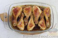 Фото приготовления рецепта: Куриные ножки, запечённые в карамельно-соевом соусе - шаг №9