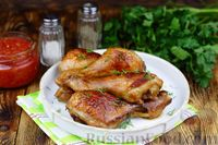Фото приготовления рецепта: Куриные ножки, запечённые в карамельно-соевом соусе - шаг №10