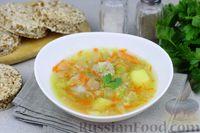 Фото к рецепту: Суп с фрикадельками, кабачками и рисом