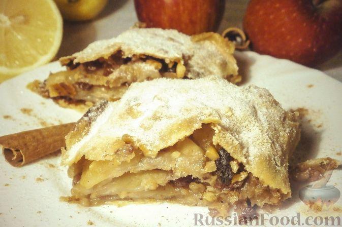 Рецепт Венский яблочный штрудель (Apfelstrudel)