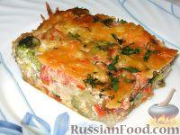 Фото к рецепту: Запеканка из цветной капусты и брокколи