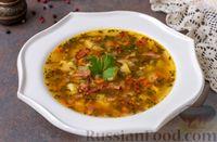 Фото к рецепту: Картофельный суп с цукини, сельдереем и беконом
