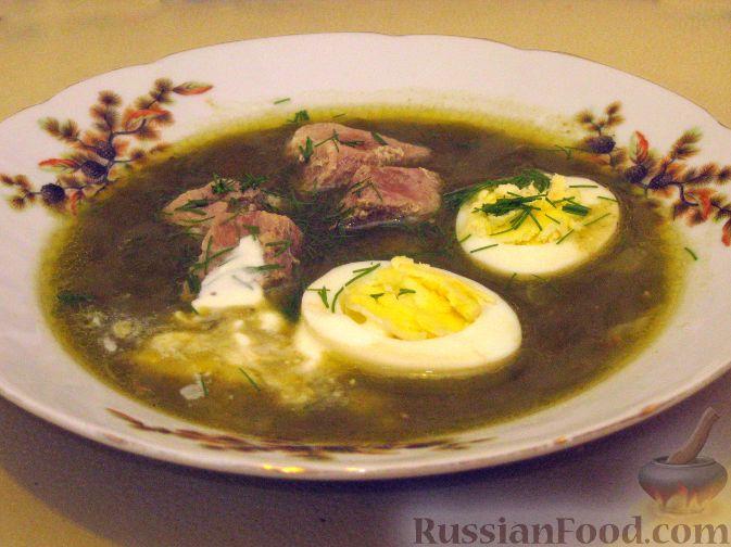 рецепт супа из щавеля на зиму