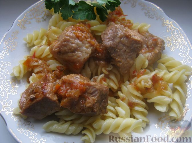 Рецепт Свинина острая с аджикой