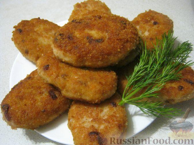 Рецепт Рыбные котлеты (из двух видов фарша)