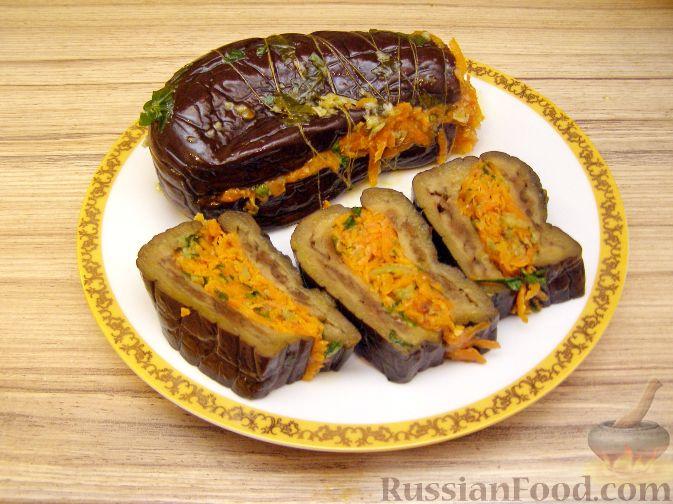 Рецепт Баклажаны квашеные, фаршированные морковью