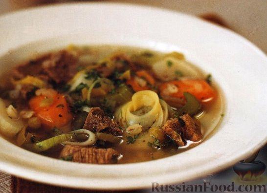 Суп из говядины с перловкой