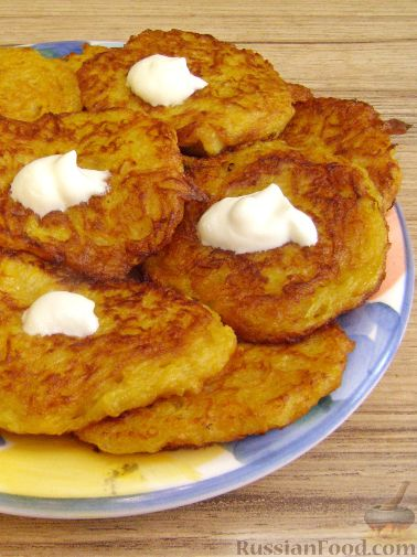 Оладьи из тыквы с картофелем
