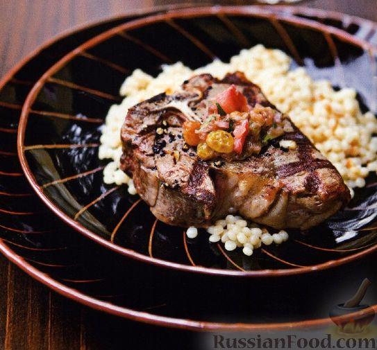 Рецепт Жареная на гриле баранина с соусом из ревеня