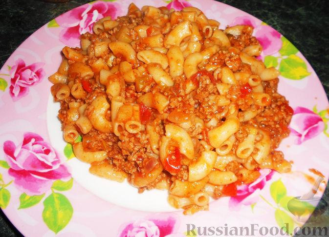 кулинария рецепт макароны фарш