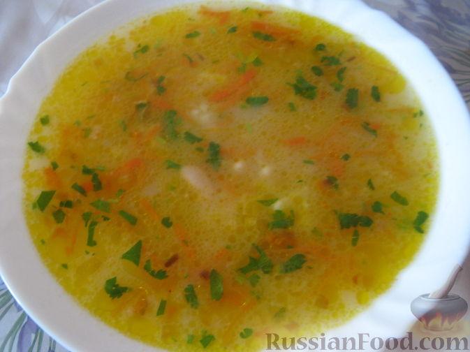 Суп из фасоли постный